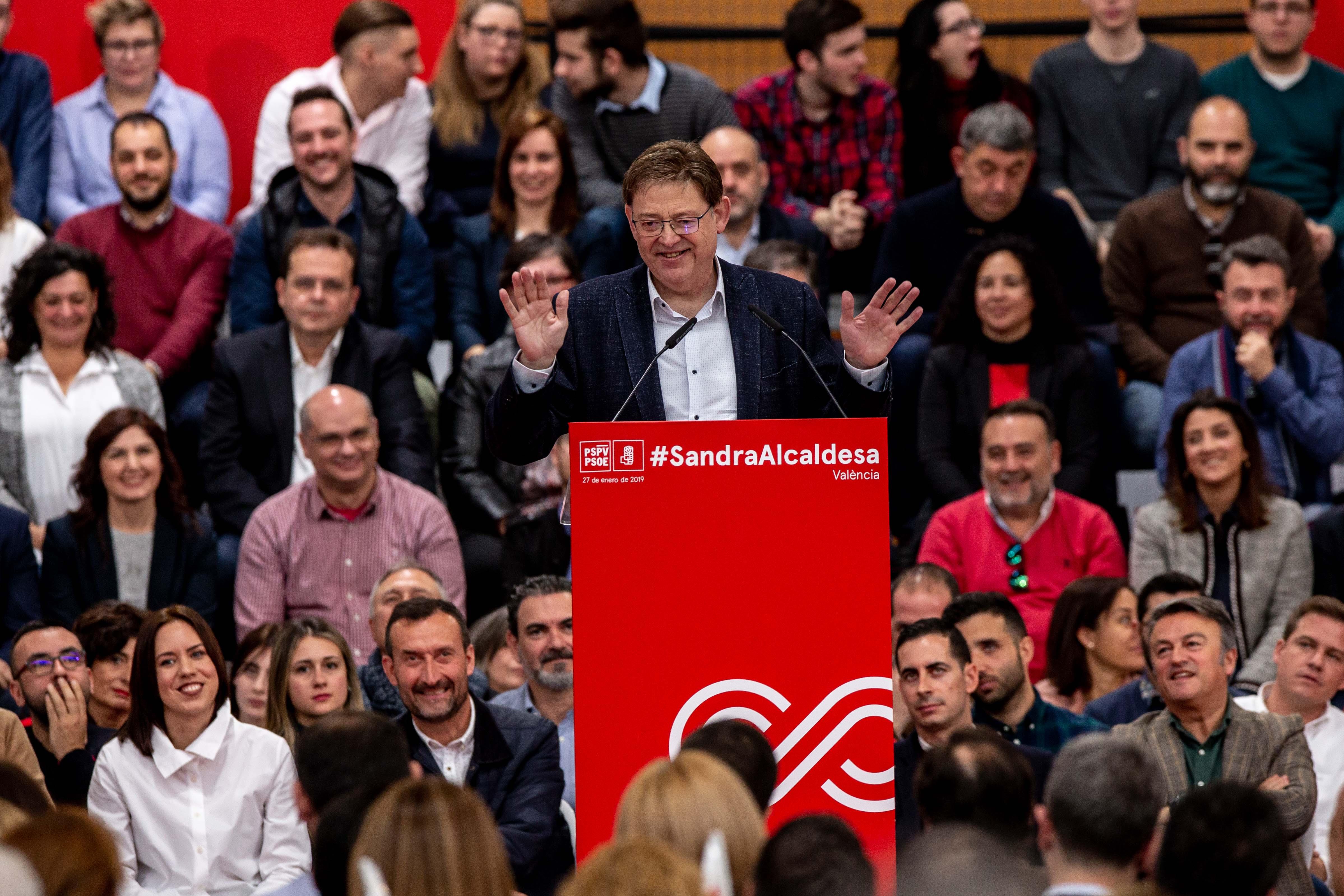 """Ximo Puig: """"El projecte del Partit Socialista és un projecte per a totes i per a tots on sumar gent diferent a partir dels valors progressistes"""""""