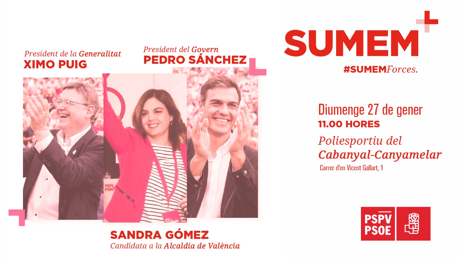 You are currently viewing Pedro Sánchez a València amb Ximo Puig i Sandra Gómez