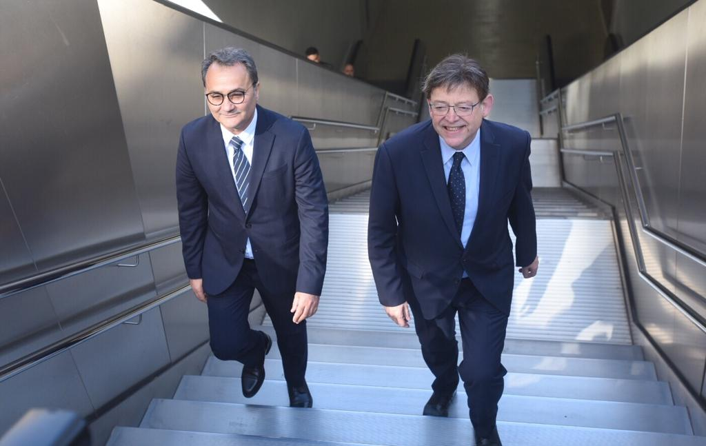 Ximo Puig anuncia la conexión del tranvía entre la estación de Luceros y la de Adif-Renfe de Alicante