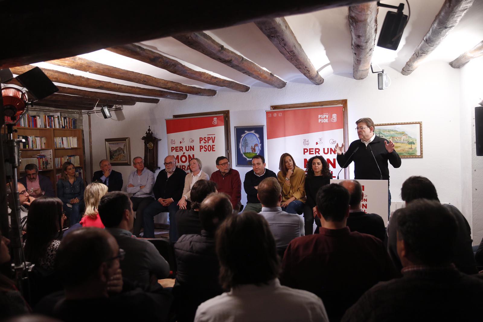 """Ximo Puig: """"Tenim una estratègia valenciana contra la despoblació que ara cal intensificar perquè el món rural continue viu"""""""