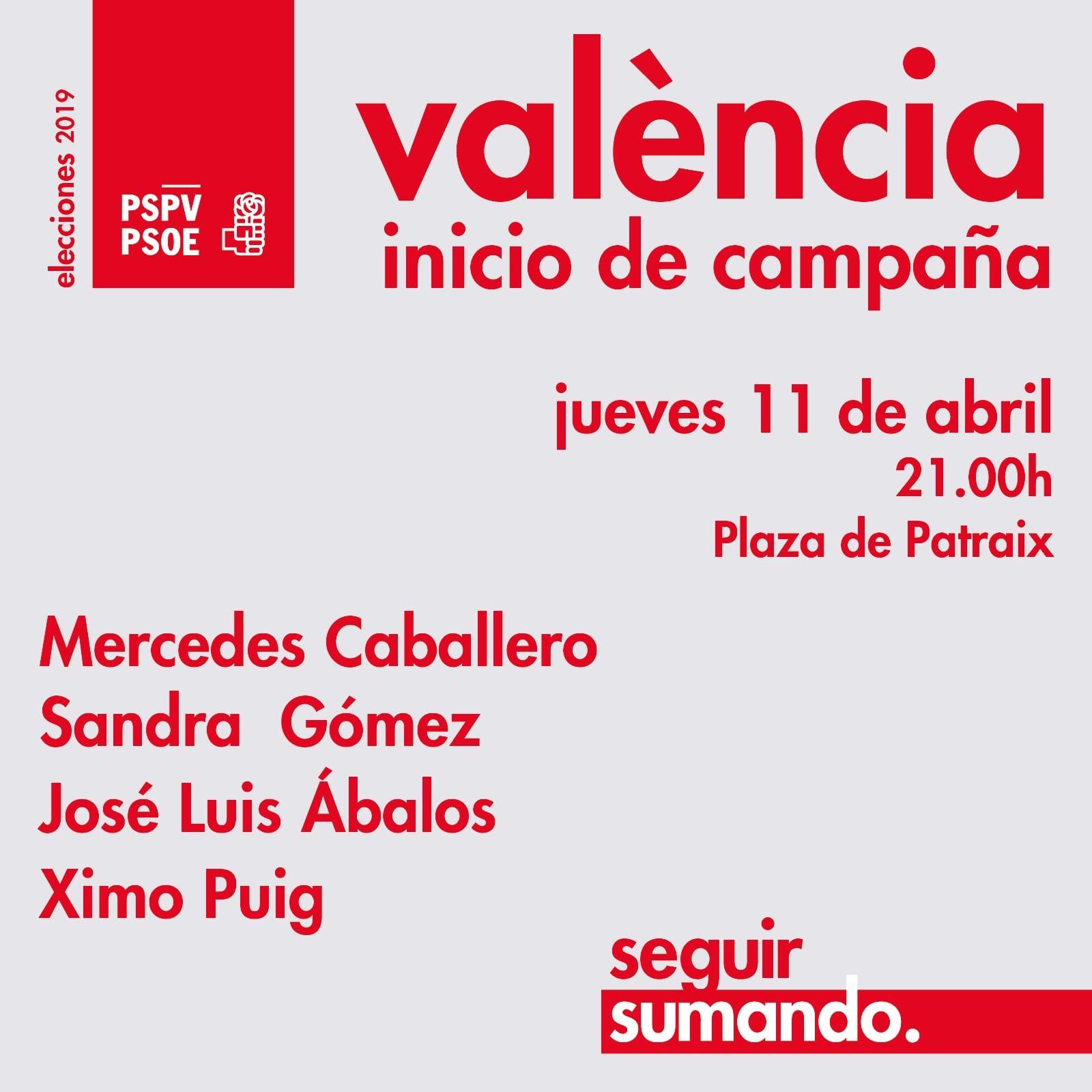 Inici de campanya autonòmica en València