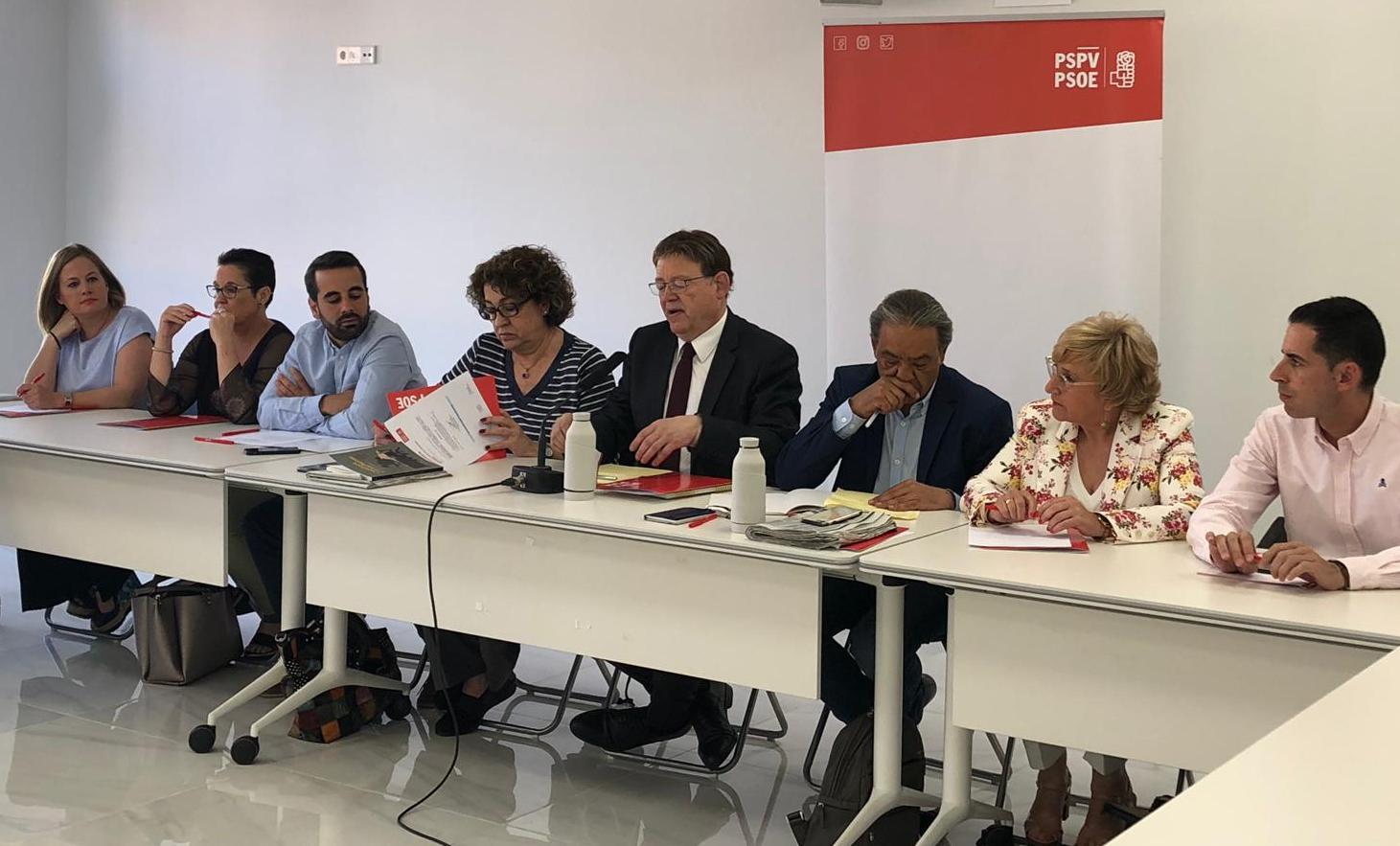 El PSPV-PSOE aprova la direcció del Grup Socialista en Les Corts i la comissió negociadora del futur pacte de govern