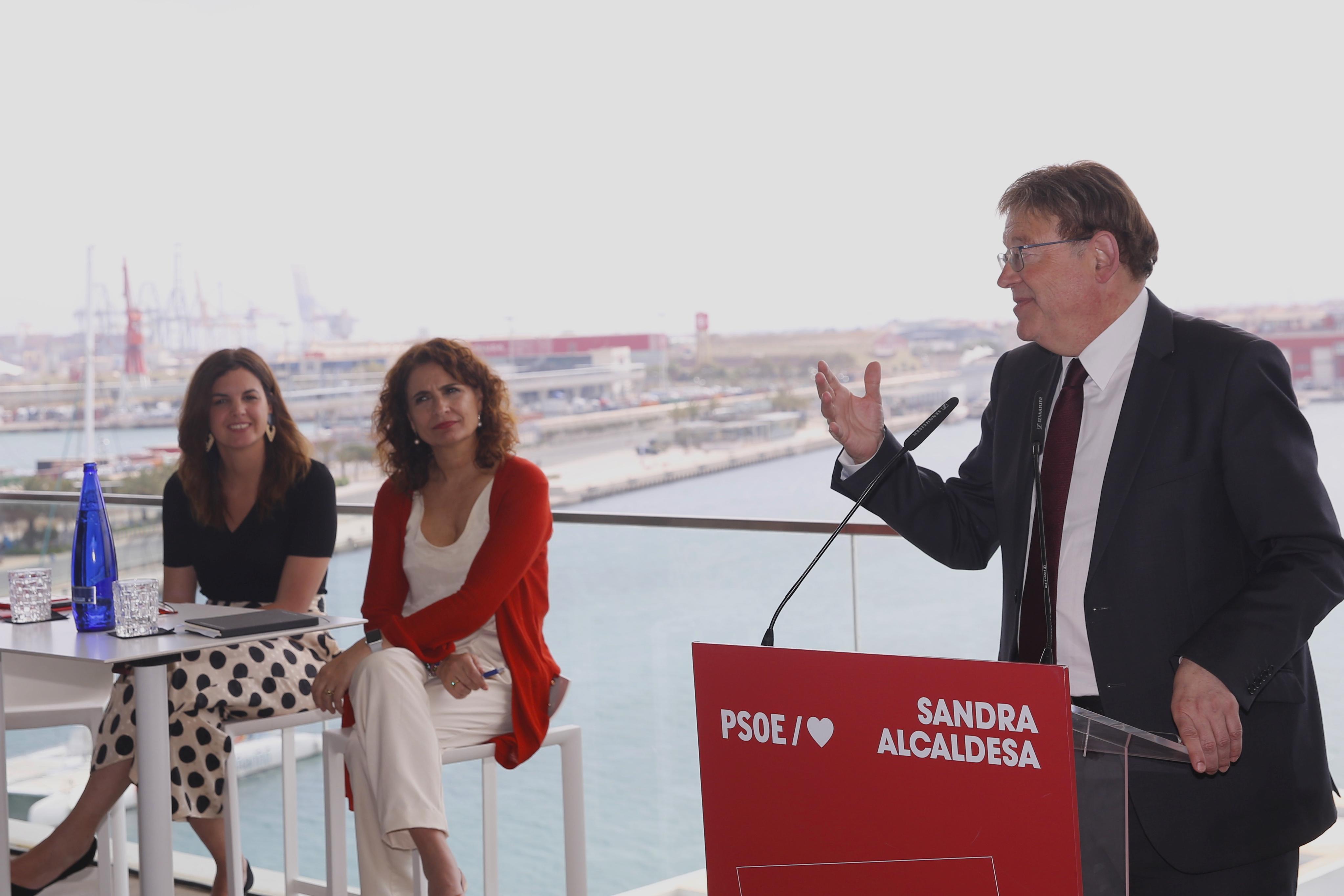 """María Jesús Montero: """"El finançament autonòmic és una de les prioritats del Govern d'Espanya perquè la Comunitat Valenciana està maltractada d'una manera injustificable"""""""