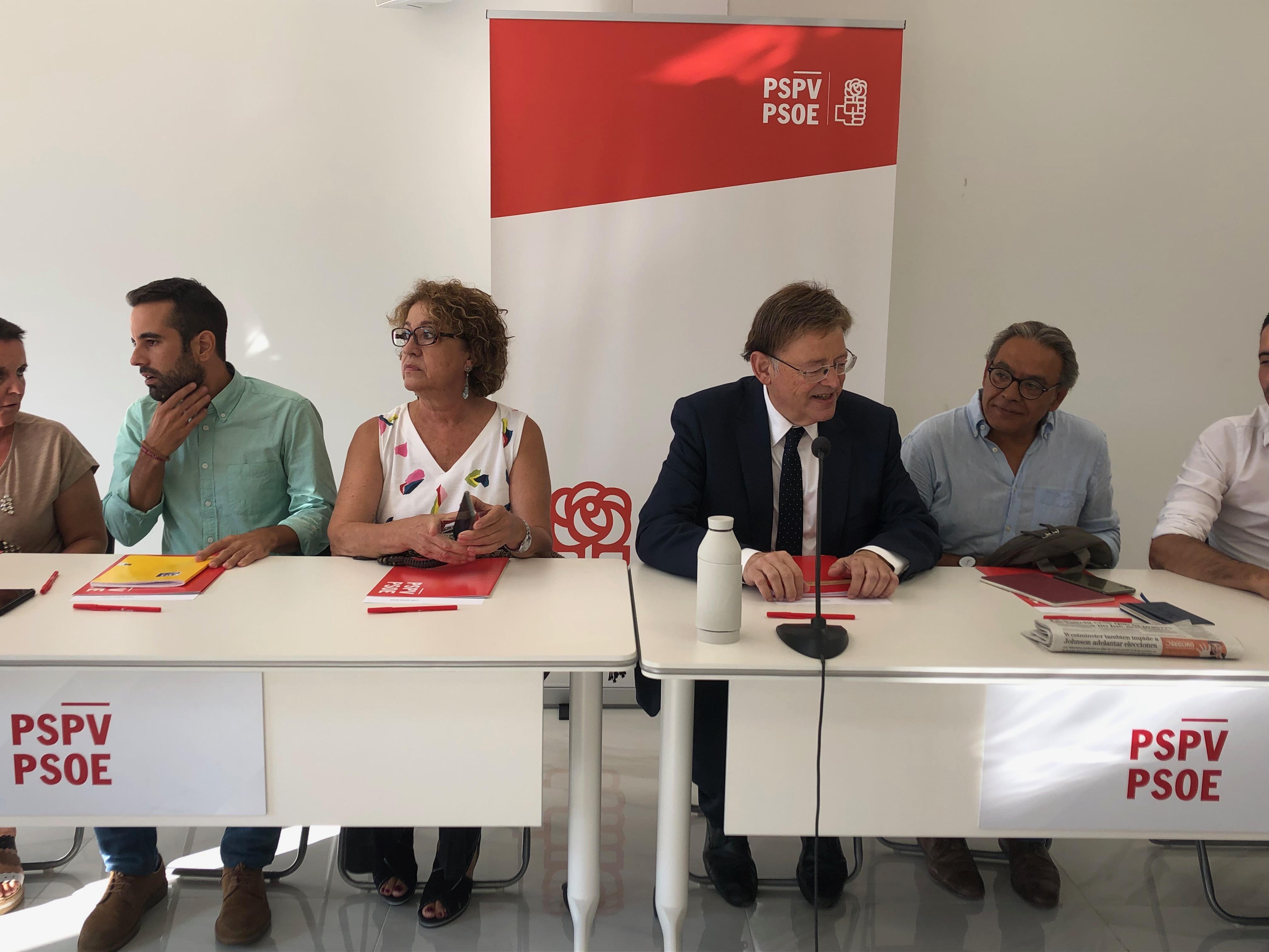 El PSPV-PSOE programa para septiembre la cena de inicio de curso político en Alicante, las jornadas parlamentarias y l'Escola de la Tardor