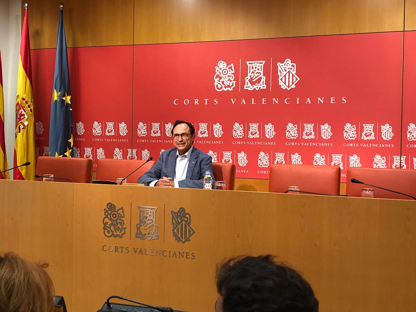Vicent Soler deixa la seua acta de diputat en Les Corts Valencianes per a centrar la seua labor en el finançament autonòmic