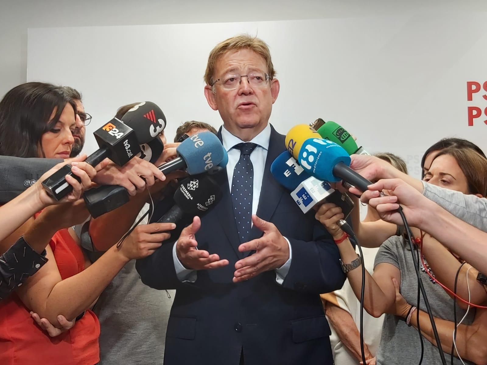"""Ximo Puig: """"S'ha de dialogar i desfronterizar la política però cal entendre que sense Estat de Dret no hi ha democràcia"""""""