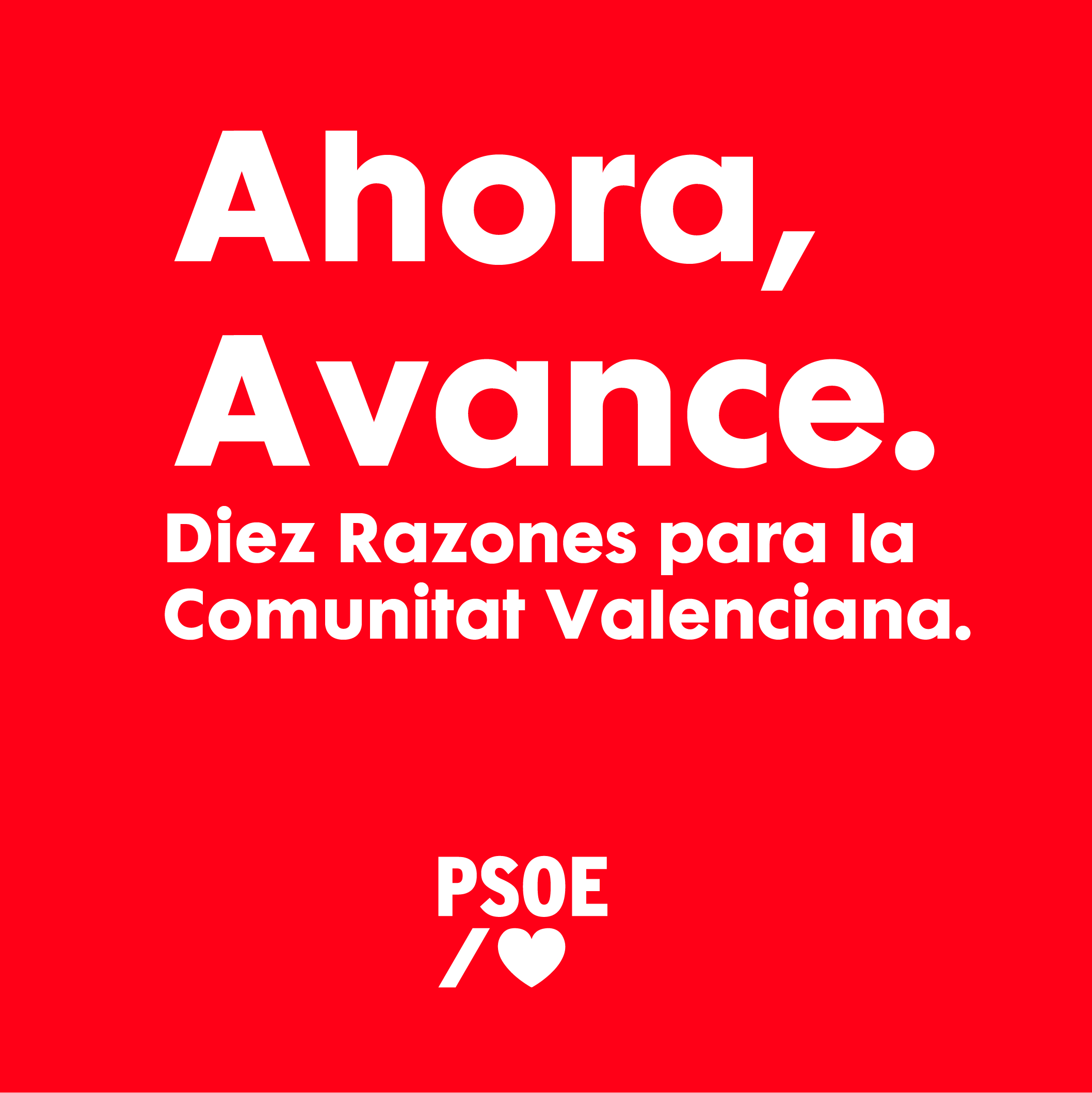 You are currently viewing Ara, Avanç. Deu raons per a la Comunitat Valenciana