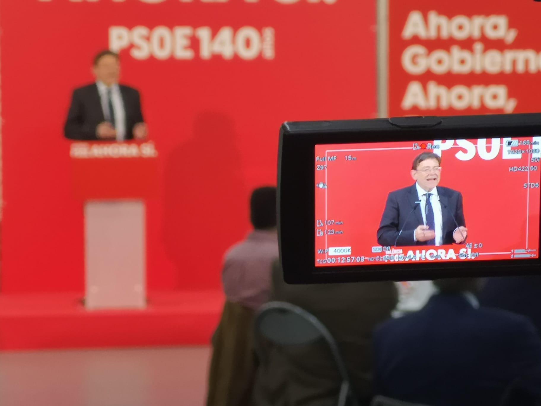 """Ximo Puig: """"Volem que a partir del dia 10 hi haja un govern a Espanya que col·labore amb el Govern valencià per a millorar la vida de les persones"""""""